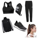 Sportoutfit Adidas für Frauen/Mädchen 🏃🏼♀️Farben: Schwarz/Weiß #adidas #adidasschuhe #sport