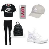 Adidas, Nike, Rucksack, Schuhenike,LOVE