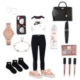 #brille #handyhülle #armband #socken #lippgloss #pumaschuhe #hose #nike T-Shirt #handtasche #wimpern #liedschatten #parfum #uhr