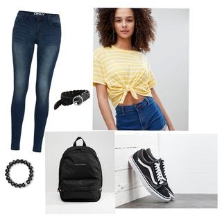 Back To School Look 🌹Frauen/Mädchen #vans #Hollister