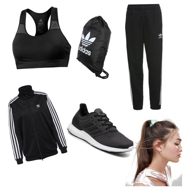 Sportoutfit Adidas für Frauen/Mädchen 🏃🏼♀️Farben: Schwarz/Weiß #adidas #adidasschuhe #sport - Style