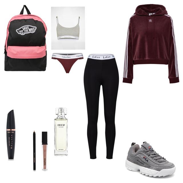 #Outfit #vans #calvinklein #fila #adidas #parfum #mascara #Lippenstift 💋 - Style