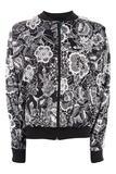 Topshop - Geblümte Jacke von adidas Originals - Schwarz-Weiß - 42.00 €