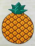 SheIn - Pineapple Print Asymmetrical Beach Blanket - $ 10.00