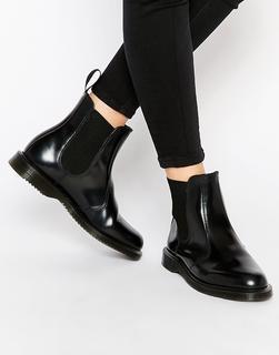 DR. MARTENS - Kensington Flora Black Chelsea Boots