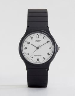 Casio - MQ-24-7BLL Analogue Resin Strap Watch - Black