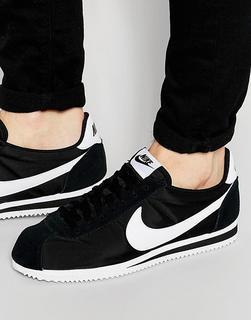 Nike - Classic Cortez nylon trainers in black 807472-011