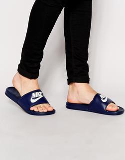Nike - Benassi JDI Sliders In Navy 343880-403