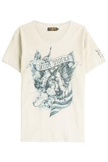 Rude Riders - American Eagle Printed Cotton T-Shirt