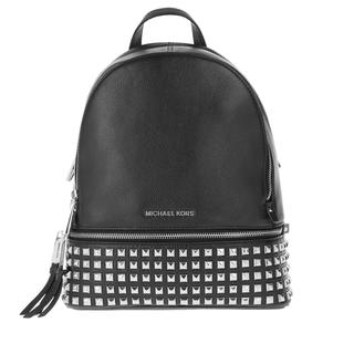 MICHAEL KORS - Rucksack - Rhea Zip Medium Pyr Stud Backpack Black/Silver - in schwarz - für Damen