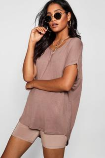 boohoo - Womens Basic Oversized T-Shirt - beige - 6, Beige