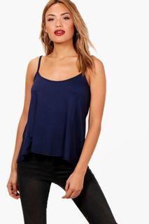 boohoo - Womens Basic Swing Cami - navy - 6, Navy