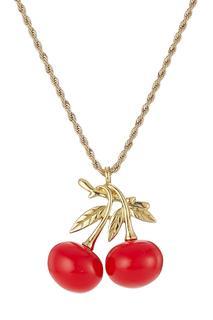 Kenneth Jay Lane - Cherry Pendant Necklace