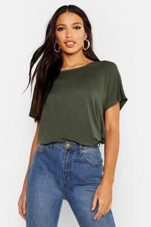 boohoo - Womens Basic Oversized T-Shirt - green - 8, Green
