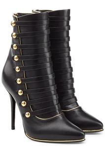 Balmain - Leather Boots with Buttons