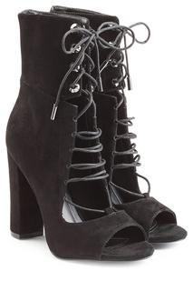 KENDALL + KYLIE - Suede Open Toe Ankle Boots
