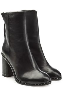 Rag & Bone - Leather Ankle Boots with Studded Trim