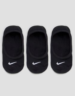 Nike - 3 Pack Lightweight No Show Low Socks - Black/(white)