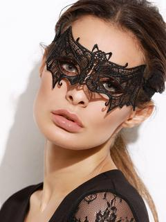 SheIn - Black Bat Shaped Lace Mask