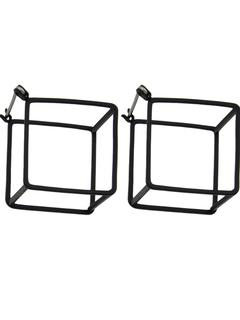 SheIn - Black Plated Square Stud Earrings