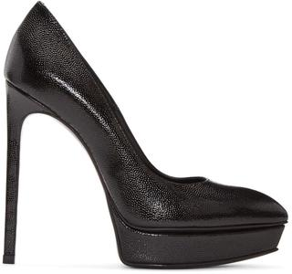 Saint Laurent - Black Platform Janis Heels
