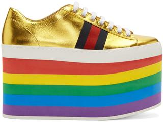 Gucci - Gold Peggy Platform Sneakers