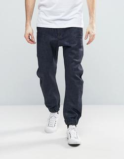 G-Star - Bronson - Schmal zulaufende Jeans mit Bündchen - Marineblau - 129.99 €