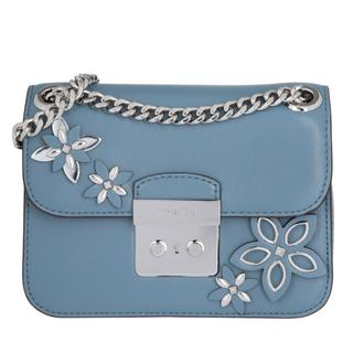 MICHAEL KORS - Tasche - Flowers SM Chain Shoulder Leather Denim - in blau - Umhängetasche für Damen - 374.00 €