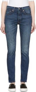 Levis - Blue 501 Skinny Jeans