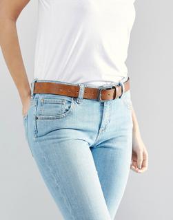 ASOS DESIGN - Vintage Tan Jeans Belt - Tan