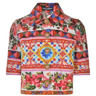 Dolce and Gabbana - Maiolica Cropped Jacket