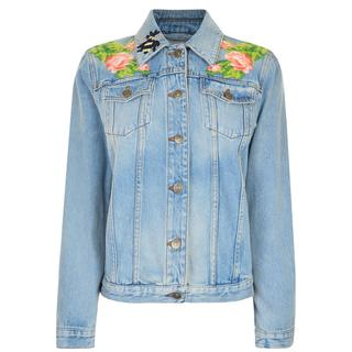 Gucci - Embroidered Stone Denim Jacket