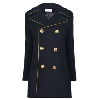 Saint Laurent - Piped Wool Coat