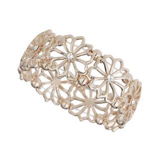 Apricot - Rose Gold Floral Cut Out Bracelet