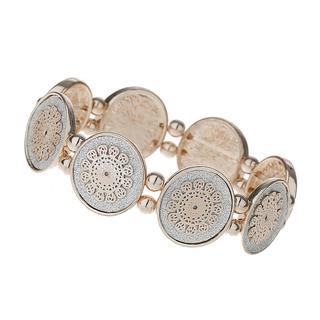 Apricot - Rose Gold Glitter Disc Bracelet