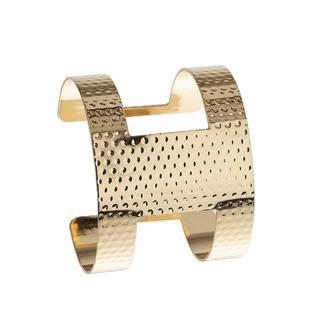 Apricot - Gold Textured Cut Out Cuff Bracelet