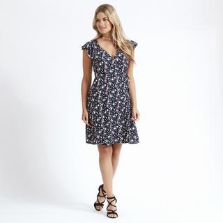 Apricot - Multi Ditsy Print Wrap Dress