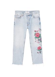 MANGO - Dalia embroidered straight jeans