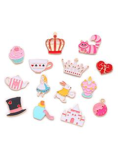 SheIn - Crown & Cat Design Cute Brooch Set