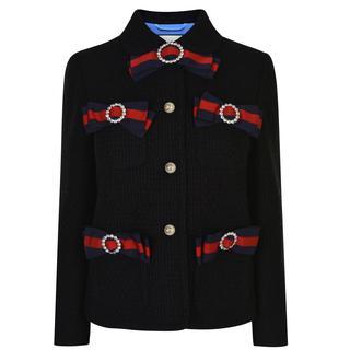 Gucci - Web Bow Tweed Jacket