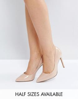 ASOS DESIGN - Paris pointed high heeled court shoes in almond