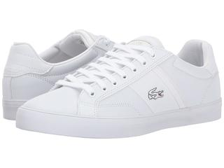 lacoste - Fairlead CTR (White/White) Men's Shoes