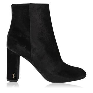 Saint Laurent - Velvet Ankle Boots