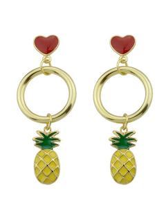 SheIn - Pineapple Heart Shaped Exquisite Fashion Earrings