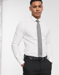 ASOS DESIGN - Enges Stretch-Hemd in Weiß