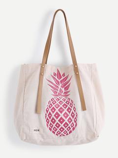 SheIn - Pineapple Print Tote Bag