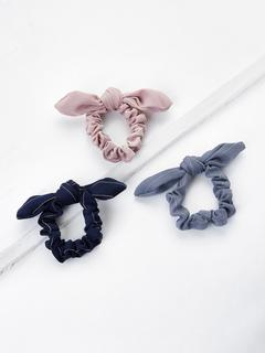 SheIn - Knotted Bow Striped Hair Tie 3pcs