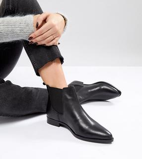 ASOS DESIGN - ASOS AUTOMATIC Wide Fit Leather Chelsea Boots