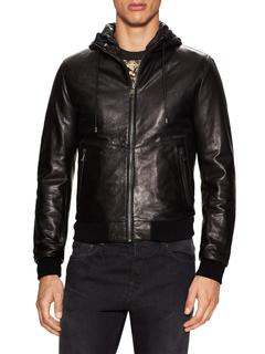 Dolce&Gabbana - Leather Hooded Jacket