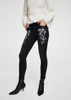 MANGO - Embroidered Isa skinny jeans